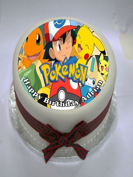 Pokemon Edible Cake Topper